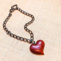 colar 1 volta coração