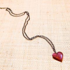 colar coração alado