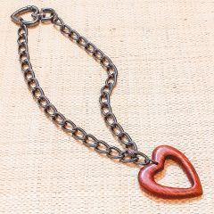 coração colar vazado