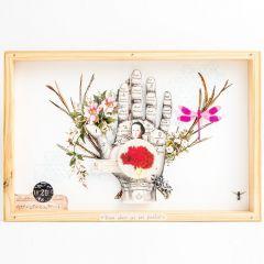 Quadro Box Colagem - Bloom Where you are Planted mercatto casa
