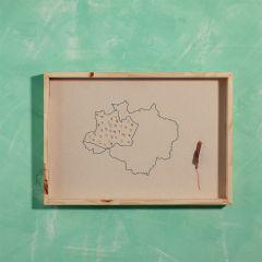 quadro bordado a mão mercatto casa