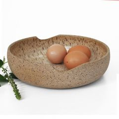 tigela em cerâmica cor creme